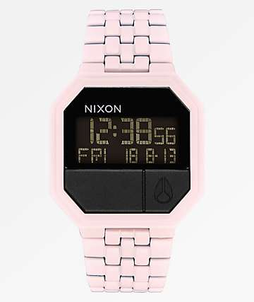 Nixon Re-Run Matte Petal Pink Digital Watch
