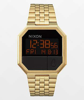 Nixon Re-Run reloj digital en color oro