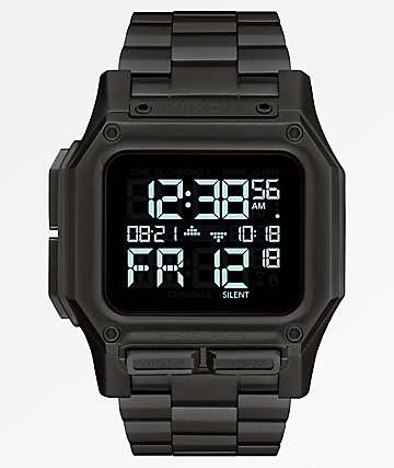 Nixon Regulus SS All Black Digital Watch