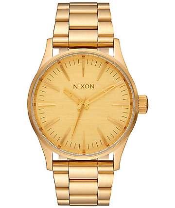 Nixon Sentry 38 SS All Gold Analog Watch