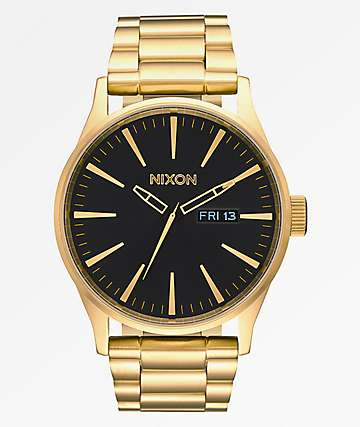 Nixon Sentry SS All Gold & Black Analog Watch