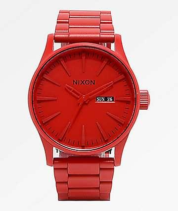 Nixon Sentry SS All Red Analog Watch