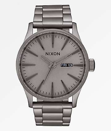 Nixon Sentry SS Dark Steel Analog Watch