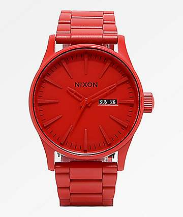 Nixon Sentry SS reloj analógico rojo