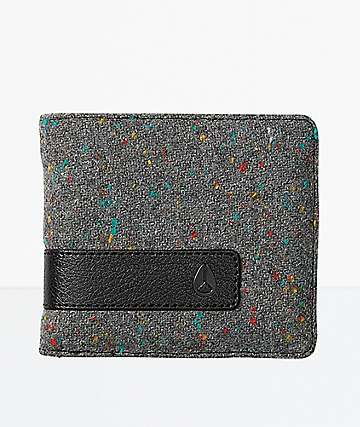 Nixon Showoff Grey Speckle Bifold Wallet