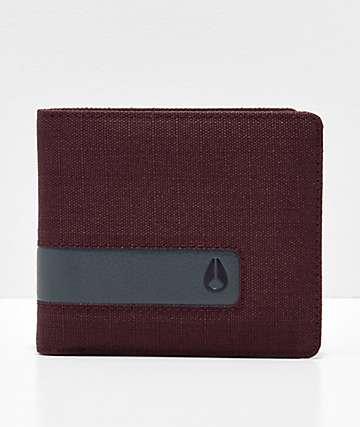 Nixon Showoff Port Red Bifold Wallet