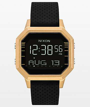 Nixon Siren SS Leila Gold & Black Digital Watch