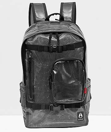 Nixon Smith Clear & Black Backpack
