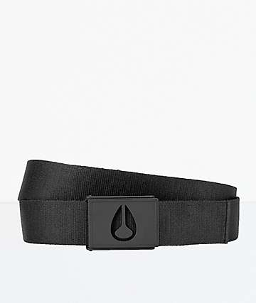 Nixon Spy All Black Webbed Belt
