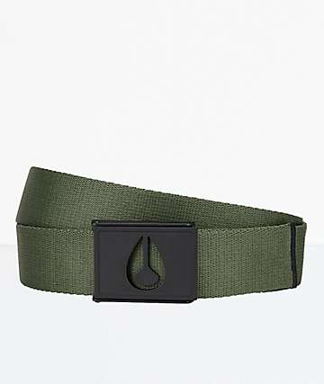 Nixon Spy Avocado Green Web Belt