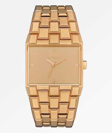 Nixon The Ticket All Gold Analog Watch