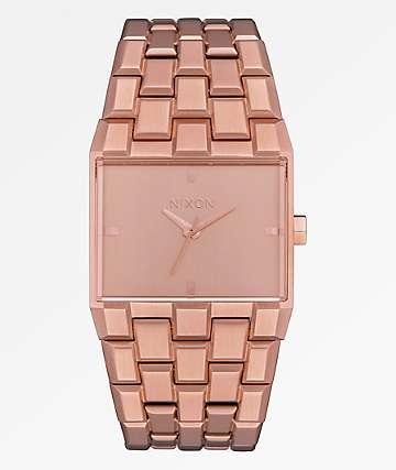 Nixon Ticket Rose Gold Analog Watch