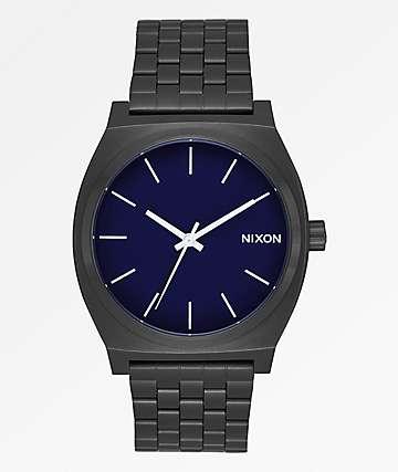 Nixon Time Teller All Black & Dark Blue Analog Watch