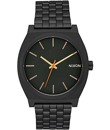 Nixon Time Teller All Black Surplus Watch