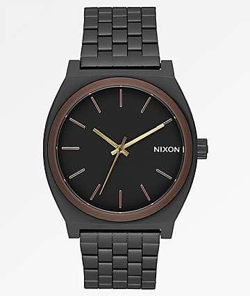 Nixon Time Teller Black, Brown & Brass Analog Watch