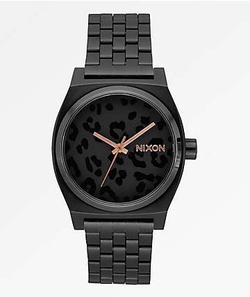 Nixon Time Teller Black & Cheetah Analog Watch