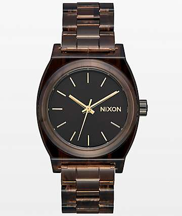 Nixon Time Teller Brown Acetate reloj analógico mediano