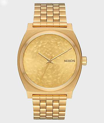 Nixon Time Teller Gold Hammered Analog Watch