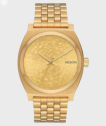 Nixon Time Teller Gold Hammered Analog Watch