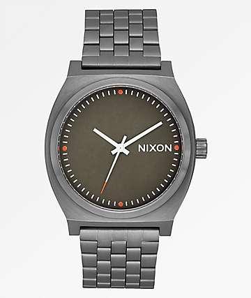 Nixon Time Teller Gunmetal, Slate & Orange Watch