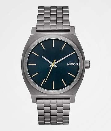Nixon Time Teller Gunmetal & Indigo Analog Watch