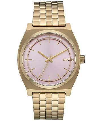 Nixon Time Teller Light Gold & Pink Watch