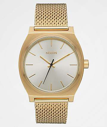 Nixon Time Teller Milanese Gold & Cream Analog Watch