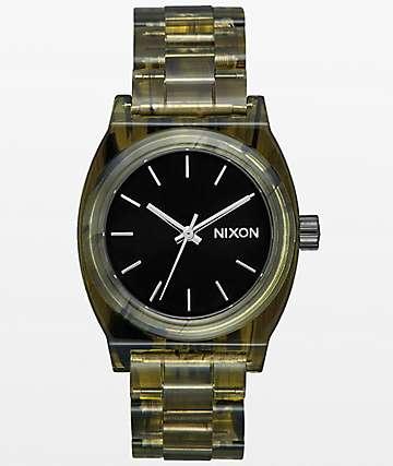 Nixon Time Teller Olive Acetate reloj analógico mediano