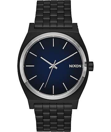Nixon Time Teller Ombre reloj en negro y azul