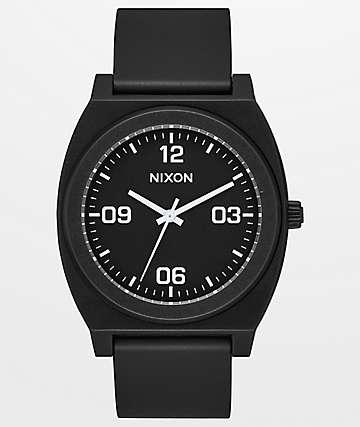 Nixon Time Teller P Corp Black & White Analog Watch