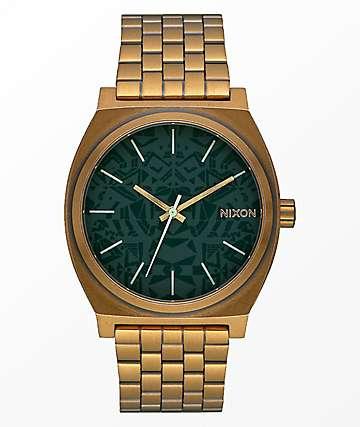 Nixon Time Teller Palm Green & Brass Analog Watch