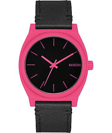 Nixon Time Teller Pink & Black Analog Watch