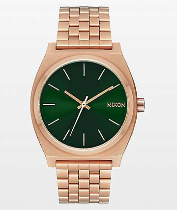 Nixon Time Teller Rose Gold & Emerald Green Analog Watch