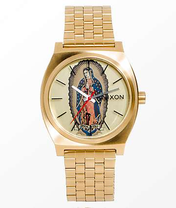 Nixon Time Teller X Santa Cruz Gold Jessee Watch