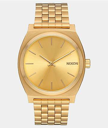 Nixon Time Teller reloj analógico en color oro