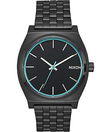 Nixon Time Teller reloj analógico en negro y azul