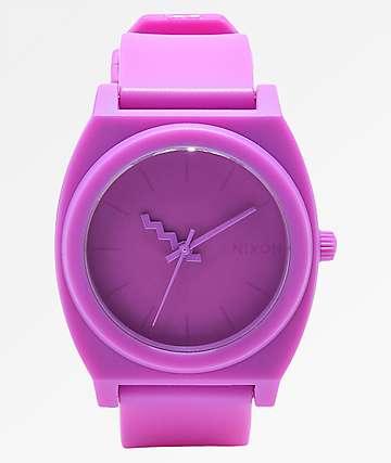Nixon Time Teller reloj analógico morado neón