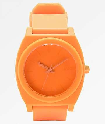 Nixon Time Teller reloj analógico naranja neón