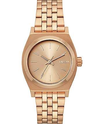 Nixon Time Teller reloj mediano color oro rosa