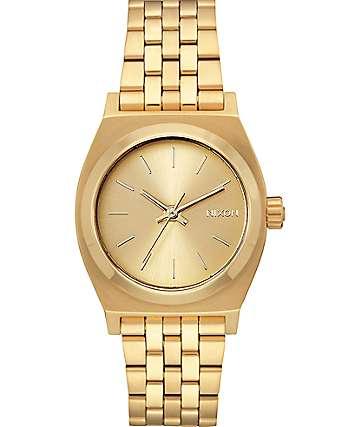 Nixon Time Teller reloj mediano dorado