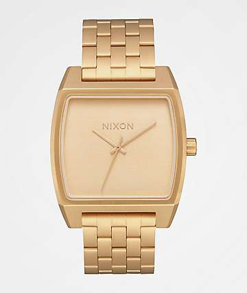 Nixon Time Tracker All Gold Analog Watch