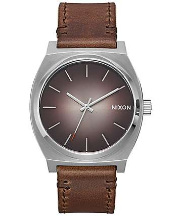 Nixon Timeteller Leather Ombre Taupe Analog Watch