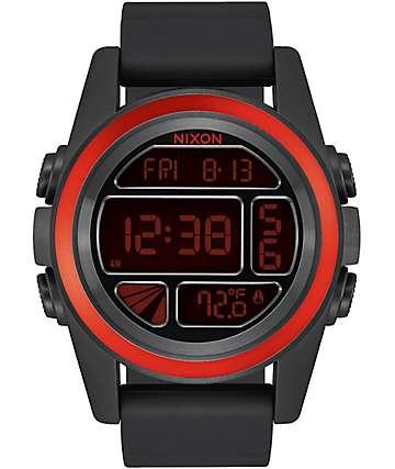 Nixon Unit Mashed Black & Red Digital Watch