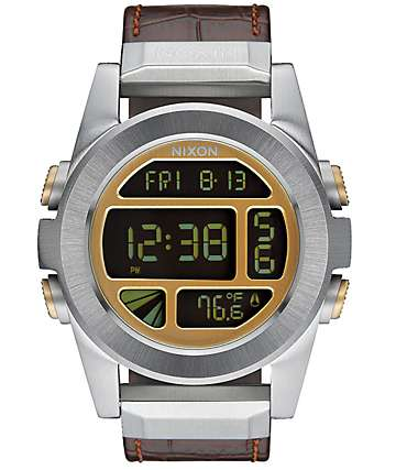 Nixon Unit SS Leather Digital Watch