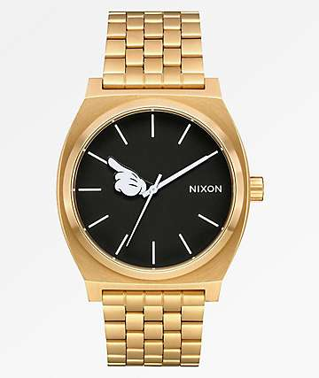 Nixon x Mickey Mouse Timeteller Gold & Black Analog Watch