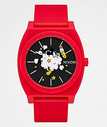 Nixon x Mickey Mouse Timeteller P Red & Black Analog Watch