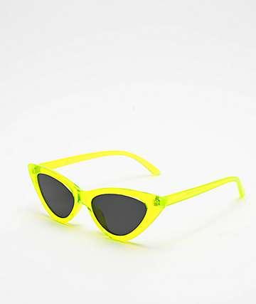 No Beach Neon Green Sunglasses