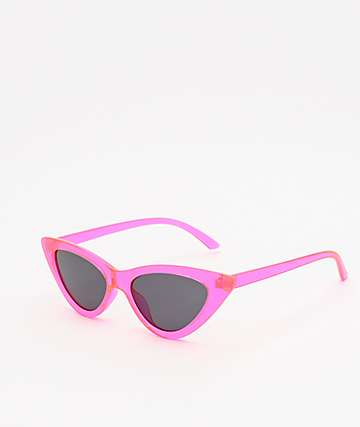 No Beach Neon Pink Sunglasses