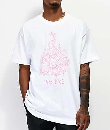 No Dice Dead Roses White T-Shirt