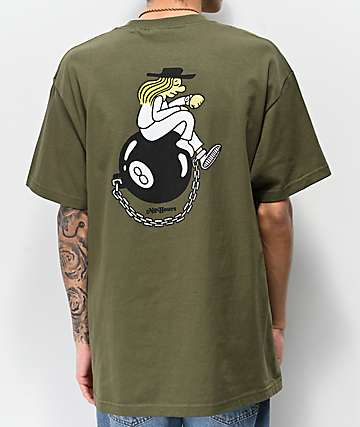 NoHours 8 Ball Army Green T-Shirt